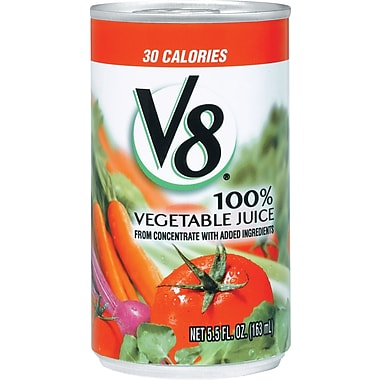 V8® 100% Vegetable Juice, 5.5 oz. Cans, 48/Case