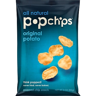 Popchips™, Original, 3 oz., 12 Bags/Box