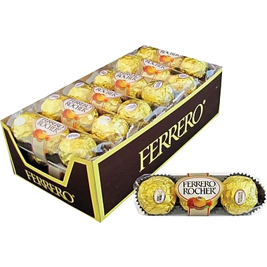 Ferrero Rocher® Chocolate Hazelnut, 1 oz. Packs, 12 Packs/Box