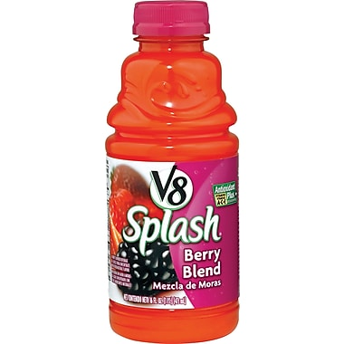 V8® Splash® Berry Blend Juice Drink, 16 oz. Bottles, 12/Pack