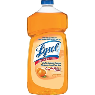 Lysol Disinfectant Multi-Surface Cleaner with Complete Clean, Orange, 1.2L