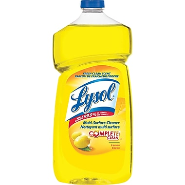 Lysol Disinfectant Multi-Surface Cleaner with Complete Clean, Lemon, 1.2L