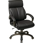 Office Star™ Work Smart Bonded Leather Executive 3 High-Back Chair, Espresso and Cocoa