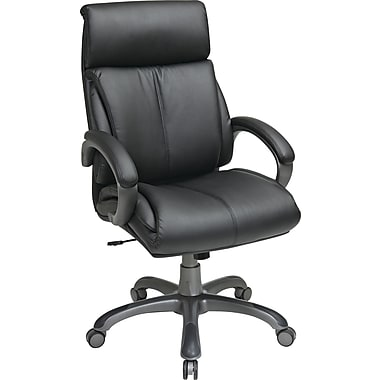 Office Star WorkSmart Fabric Executive Office Chair, Fixed Arms, Black (ECH68807-EC3)