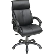 Office Star™ Work Smart Bonded Leather Executive 3 High-Back, Black and Titanium
