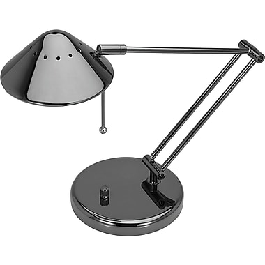 V-Light® Adjustable Halogen Desk Lamp, Black Chrome