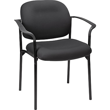 Staples Verdesol Fabric Guest Chair, Black