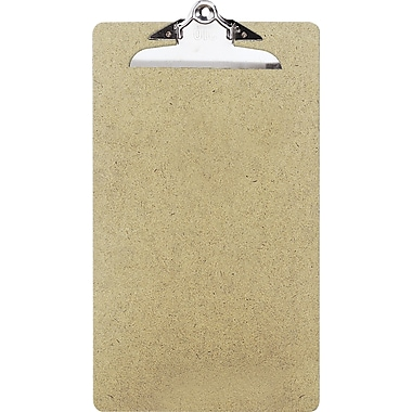 OIC® Recycled Hardboard Clipboard, Legal, Brown, 9in. x 15 1/2in.