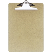"OIC® Recycled Hardboard Clipboard, Letter, Brown, 9"" x 12 1/2"""