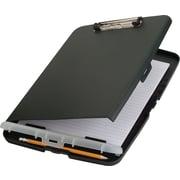 "OIC® Slim Clipboard Storage Box, Charcoal, 10"" x 14 1/2"" x 1 1/4"""