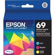 Epson® – Cartouches d'encre couleur 69, T069520, paquet combiné