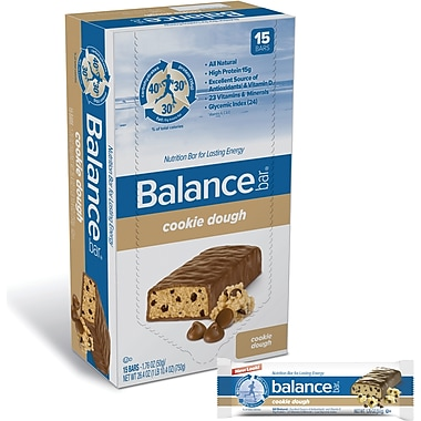 Balance Bars Cookie Dough, 1.76 oz. Bars, 15 Bars/Box