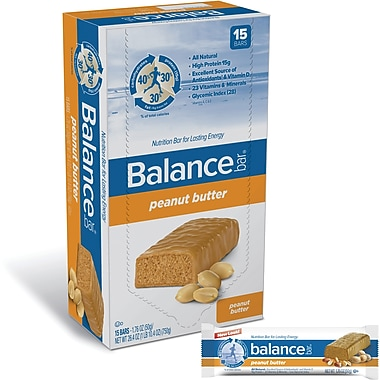 Balance Bars Peanut Butter, 1.76 oz. Bars, 15 Bars/Box