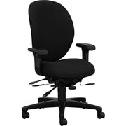 HON® H7608HNT10T Unanimous® 7600 Fabric High Performance High-Back Task Chair with Arms, Black