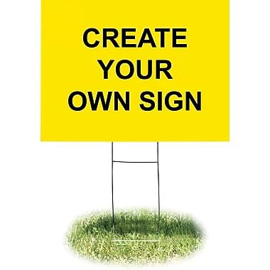 Headline Sign® - Engeigne en plastique ondulé avec support en fil métallique, jaune, 18 po x 24 po