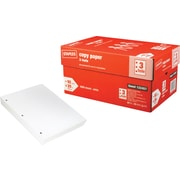 "Staples® Copy Paper, 8 1/2"" x 11"", 3 Hole Punched, Case"