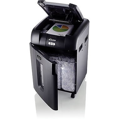 Swingline® Stack-and-Shred™ 500X, 1757577, 500 Sheets, Super Cross-Cut, Auto Feed Shredder, Black