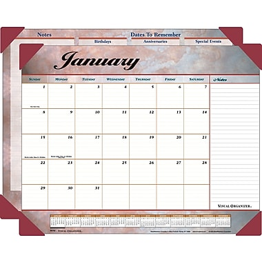 "2014 AT-A-GLANCE® Marbled Desk Pad, 22"" x 17"""