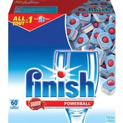 Finish All-in-1 Powerball Dishwashing Detergent, Original Scent, 60 Tabs