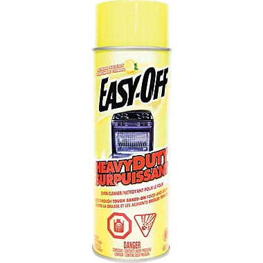 Easy-Off Oven Cleaner Heavy Duty Aerosol Spray, Lemon Scent, 600g