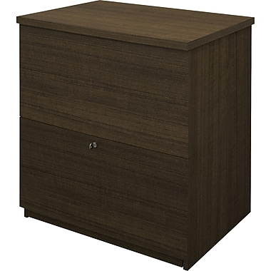 Bestar Commercial Lateral File, Grey-Brown Teak