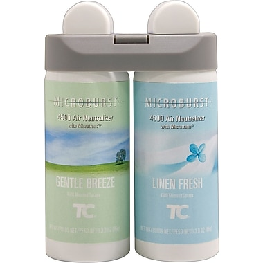 Microburst Duet Dual Fragrance Air Freshener Refill, Gentle Breeze & Linen Fresh
