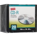 Staples 20/Pack 700MB CD-R, Slim Jewel Cases