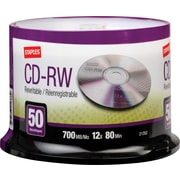 Staples 50/Pack 700MB CD-RW, Spindle