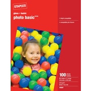 "Staples® Photo Paper, 8 1/2"" x 11"", Glossy"