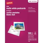 """Staples® Inkjet Postcards, 5-1/2"""" x 4-1/4"""", Matte, 100-Pack"""