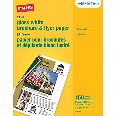Staples® Brochure & Flyer Paper, 8 1/2