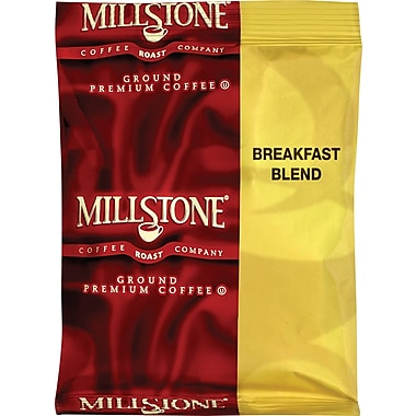 Millstone Premeasured Breakfast Blend Coffee,Regular, 1.75 oz., 24 Packets