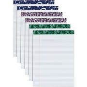 "Fashion Perforated Writing Pads,  8-1/2"" x 11-3/4"", Assorted Colors"