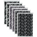 Tops® Designer Steno Pads, Black & White, 6in. x 9in.