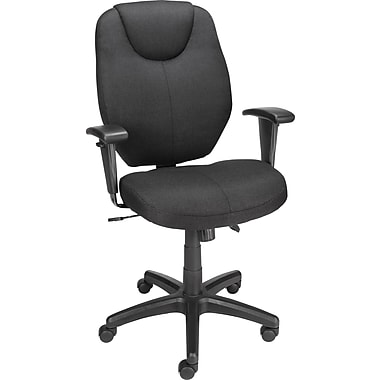 Staples® Marken™ Fabric Mid-Back Task Chair, Black