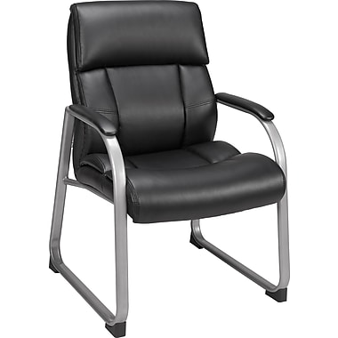 Staples® Herrick™ Bonded Leather Guest Chair, Black
