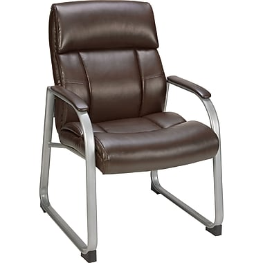 Staples Herrick Bonded Leather Guest Chair, Brown