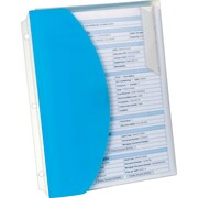 Oxford® Folder with 4 Sliding Pockets, Letter-Size, Blue, 1/EA