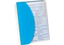 Oxford® Folder with 4 Sliding Pockets, Letter-Size, Blue, 1/EA