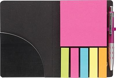 Staples Stickies Portable Stickies with Pen Black White