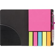 Staples® Stickies™ Portable Stickies with Pen, Black & White