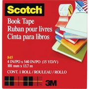 Scotch® Book Tape 845, 4 x 15 yds, 3 Core