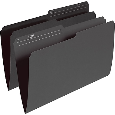 Staples® Coloured File Folders, Legal Size, 8-1/2