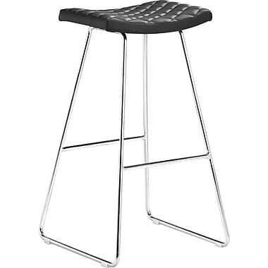 Zuo Modern Crescent Faux Leather Bar Stools