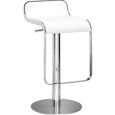 Zuo Modern Equino Faux Leather Bar Stool, White