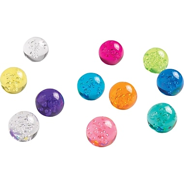 Staples® Sphere Bubble Magnets, Assorted Colors, 12 PK