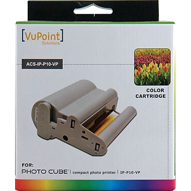 Vupoint Photo Cube ACS-IP-P10-VP Color Ink and Paper Cartridge
