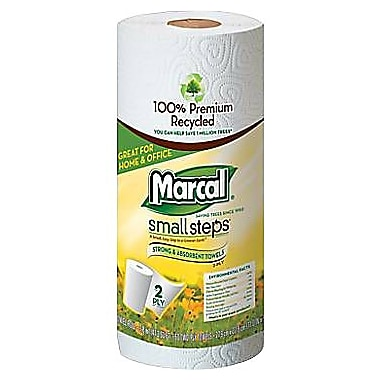 Marcal® Small Steps® 100% Recycled  Paper Towel Rolls, 15 Rolls/Case