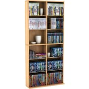 Atlantic® Oskar Games Media Tower Cabinet, Maple Finish