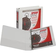 Samsill Speedy Spine 1.5-Inch Round 3-Ring Binder, White (18157C)